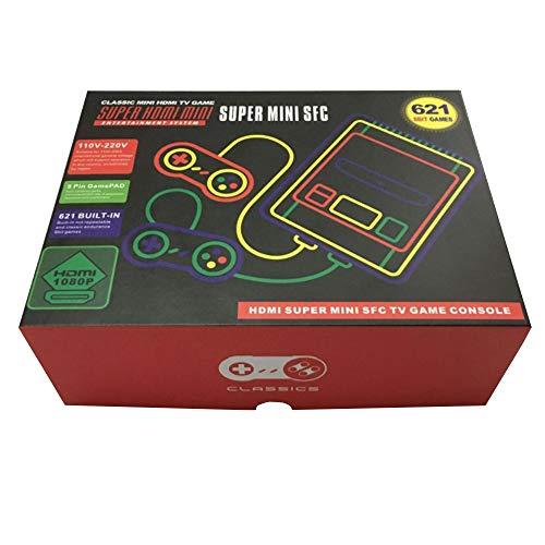 Klassische Retro-Mini-Host HDMI HD rot und weiß Doppel-Kampf 621 Spiel-Entertainment-System -