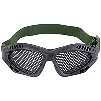Libertroy Gafas Gafas de protección Ocular al Aire Libre Juegos de CS de Malla metálica Juegos de Seguridad de Airsoft con Banda elástica Ajustable