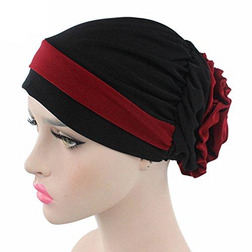 1 pc musulmán elástico Turbante Sombrero cáncer Chemo Cap pérdida de  cabello Headwrap pañuelo para la b2604d63b04