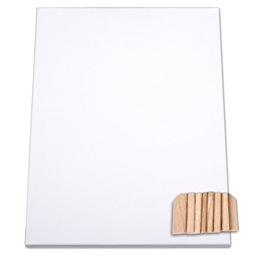Kanevas Keilrahmen 30x40cm Keil Rahmen bespannt mit Baumwolle Leinwand