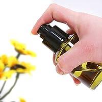 2oz luce ambra bottiglie piccole in vetro con nero Nebulizzatore fine per oli essenziali casa, in viaggio e prodotti di bellezza