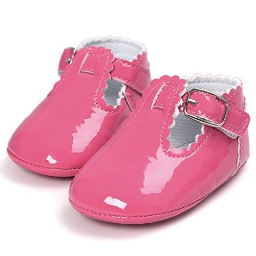 Baby Brief Prinzessin Weiche PU-Leder Shoes Xmansky Kleinkind Turnschuhe Casual Schuhe Geschlecht für Baby Mädchen und Baby Jungen Pink mgHhpoI