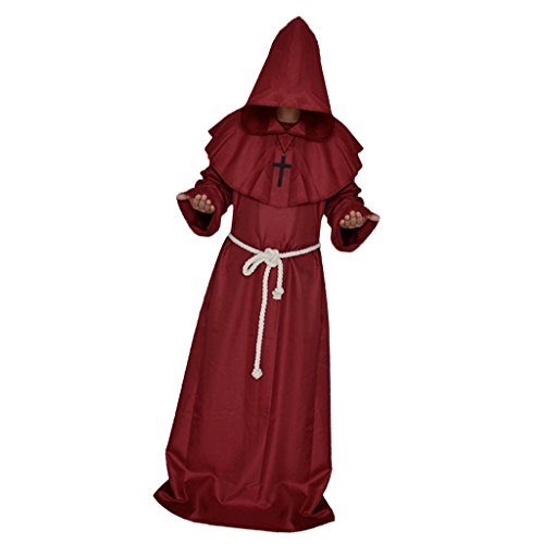 ester Robe Mantel Kostüm Cosplay Rot - XL (Pastor Outfit)