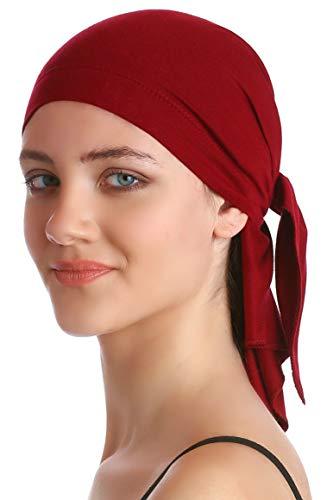 Deresina Headwear Unisex Baumwolle Bandana Fur Haarverlust (Burgundy) -