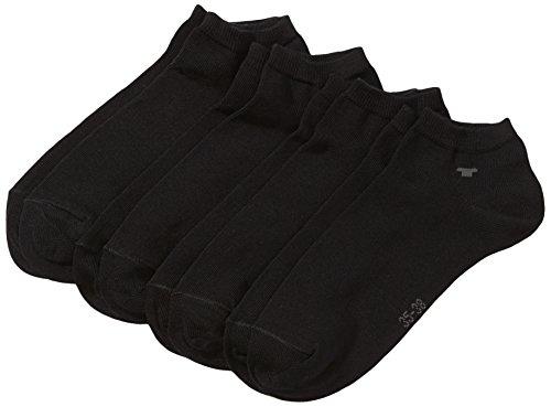 TOM TAILOR Unisex - Erwachsene Sneakersocke 4 er Pack 9415 / TOM TAILOR unisex sneaker 4 pack, Gr. 43-46, Schwarz (black - 610)