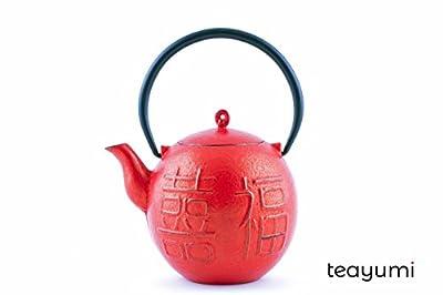 teayumi–Yogi Théière en fonte 0,9l Rouge/Noir