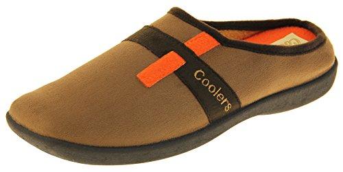 Footwear Studio Mens Coolers Memory Foam Mule Slippers 42 EU