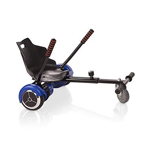 ACBK Hoverboard Bleu Gyropode Trottinette Éléctrique Auto-Équilibrage 6.5 Pouces + Hoverkart Noir