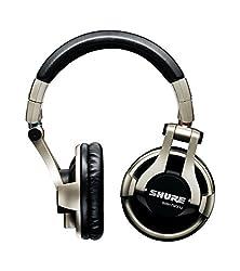 Shure SRH750DJ, geschlossener DJ-Kopfhörer / Over-ear, geräuschunterdrückend, faltbar, drehbare Ohrmuscheln, austauschbares Kabel, druckvoller Bass und erweiterte Höhen