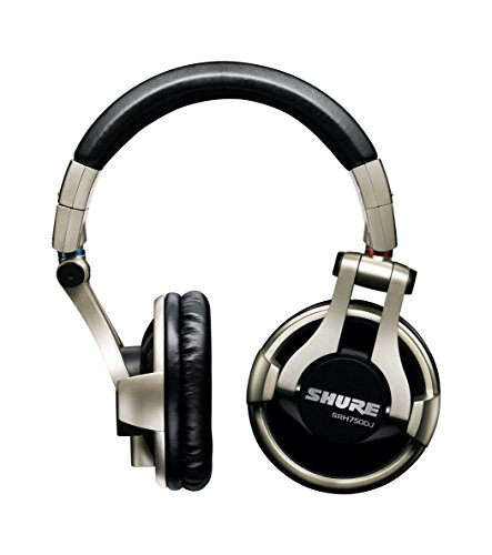 Shure SRH750DJ Cuffie DJ di Qualità Professionali, Nero/Oro
