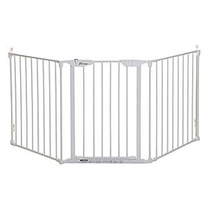 Dreambaby Newport 3 Panel Safety Adapta-Gate (Fits 85.5- 200cm), White F2022BB