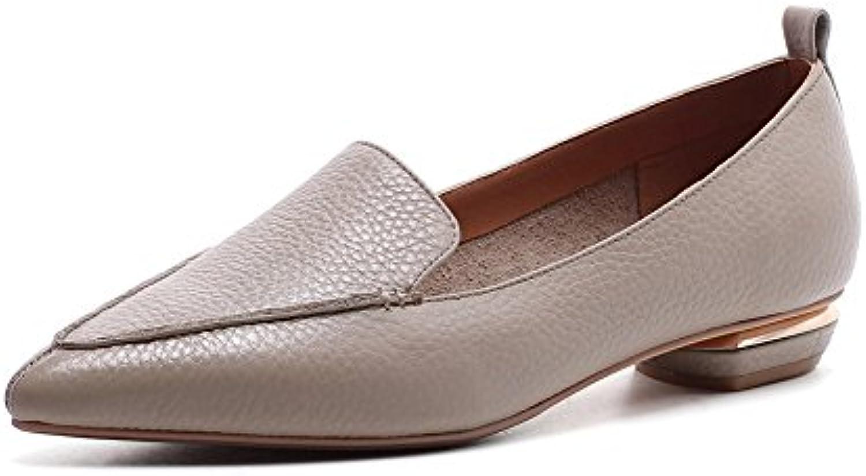 ZJM- Pompe Pompe Pompe semplici Scarpe da donna in pelle Pantofola Scarpe estive per il tempo libero Scarpe piatte Mocassini...   scarseggia  a3a15e