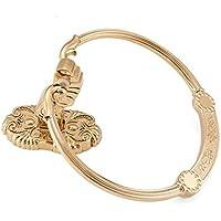 LI JING SHOP- Oro anello di tovagliolo di stile europeo asciugamano appeso bagno tovagliolo sospensione Hardware Hanging anello intagliato Solid