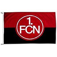 Flaggenfritze Hissflagge 1. FC Nürnberg Logo rot-schwarz - 100 x 150 cm + gratis Aufkleber