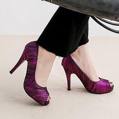 WSX&PLM Da donna-Tacchi-Ufficio e lavoro / Casual / Serata e festa / Formale-Plateau / Innovativo-A stiletto-Di pelle / Microfibra-Blu / Viola purple