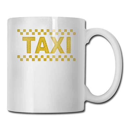 11 Oz White Ceramic Coffee Mug Taxi Driver Cab CUPS White One Size