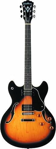 Washburn HB30 TS Hollow Body Guitar - Tobacco Sunburst Finish
