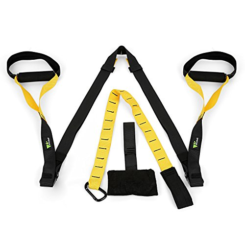 Preisvergleich Produktbild amzdeal® Schlingentrainer Suspensiontrainer gelb schwarz