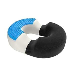 bonmedico® cuscino ortopedico rotondo (a ciambella) con innovativo cuscinetto in gel per un rapido sollievo dal fastidio delle emorroidi e dal dolore al coccige, utilizzabile su sedie a rotelle e seggiolini auto, a casa, al lavoro, in ufficio o in viaggio - Nero