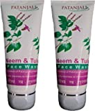 Patanjali Neem & Tulsi Face Wash 60gm (Pack of 2)