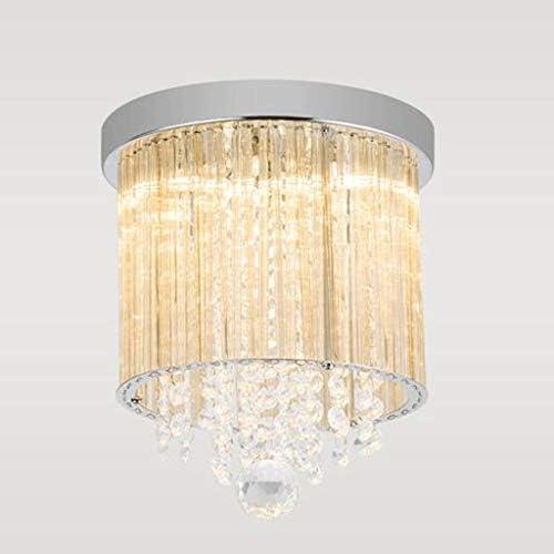 1, moderno lampadario di cristallo corso verde lampada Fuoco corridoio ricezione balcone corridoio Fuoco ciclo lampada da soffitto piccola lampada Lampade E14  2 (Coloreeee  1 PC) 606c7d