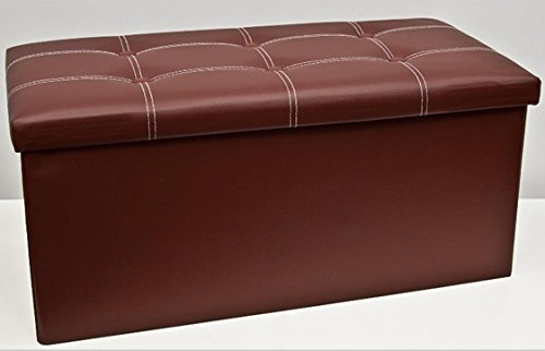 folding-ottoman-leather-buttoned-double-brown-black-cream-red-brown