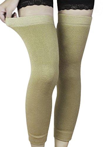 Unisex 1 Paar Medizinische Thermal für Kompression Unterstützung Kniebandage Verlängte Strickkniebandage Beschützer Kneepad Oberschenkel Legging Strümpfe - Schmerzlinderung, Warming Knie, Anti-Rutsch-Komfort