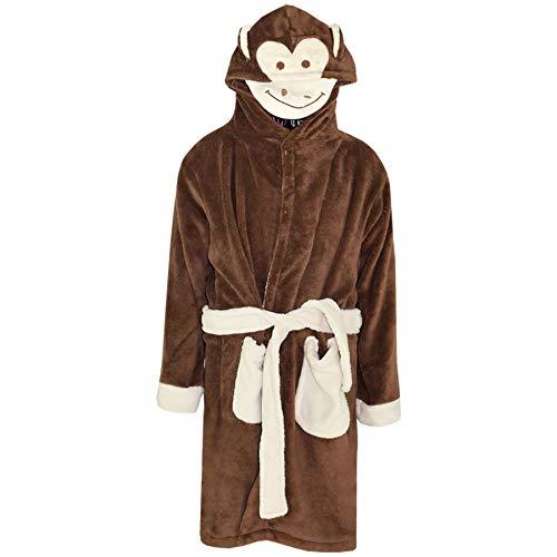 A2Z 4 Kids Kinder Mädchen Jungen Bademäntel Designer - Bathrobe Monkey_11-12