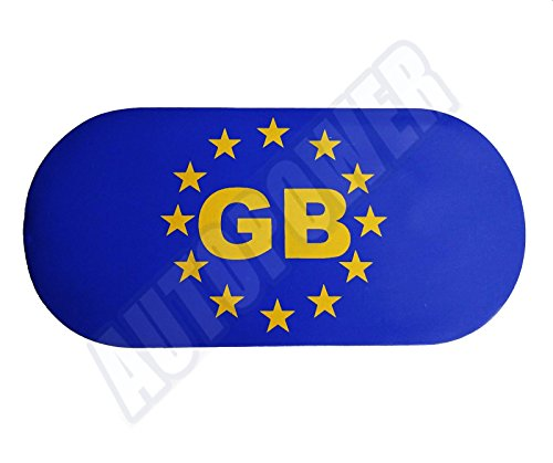 Preisvergleich Produktbild Fully Magnetic Blue GB Sticker Great Britain Magnetic Plate Badge Travel Abroad