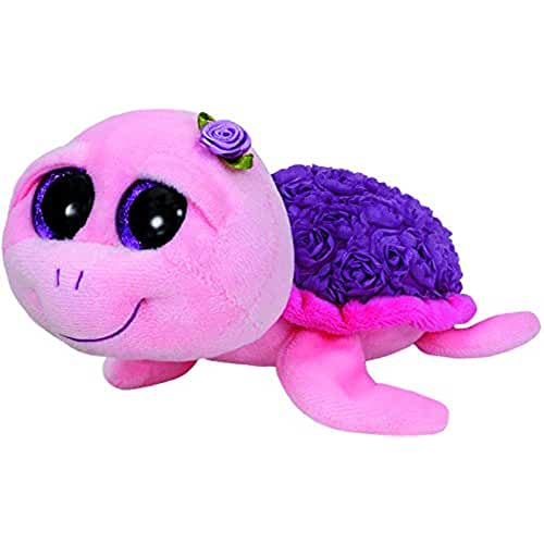 peluches TY - Beanie Boos Rosie, tortuga, 15 cm, color rosa (United Labels Ibérica 36185TY)