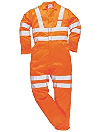 Yoko Hi-Vis Polycotton Coverall - Hi Vis Orange - size 5XL