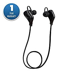 ACID EYE Sports Bluetooth Headphones,S5 Wireless Noise Cancelling Running Stereo Earphones with Microphone Headset for Phones(Black)