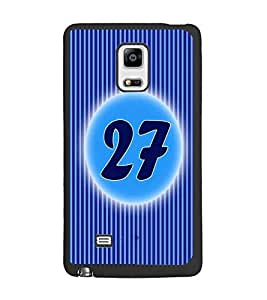 PrintDhaba Numerology Number 27 D-2585 Back Case Cover for SAMSUNG GALAXY NOTE 4 EDGE (Multi-Coloured)