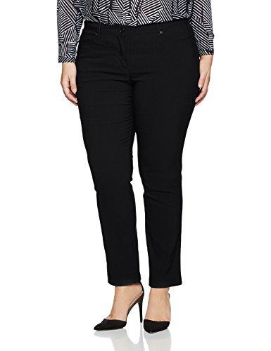 Gina Laura Große Größen Damen Hose GL_4 Pocket_K Länge Schwarz (Schwarz 10), 44