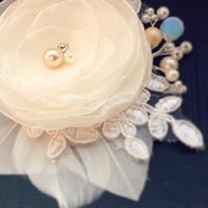 Haarschmuck, Haarblumen, Brautblumen, Hochzeit, Headpiece, Fascinator