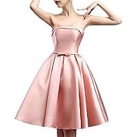 ASVOGUE Women's Fashion Off Shoulder Bow Waist A-line