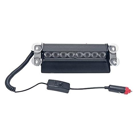 Signstek Car Vehicle 8 LED Blue Strobe Dash Deck Emergency Warning Flash Light Bar Beacon