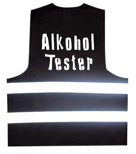 Warnweste Alkohol Tester Warnweste mit reflektierenden Streifen L - XXL