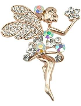 richbest Fashion Ballerina Ballett Tänzerin Mädchen Full bunt Kristall Cute Winkel Broschen Pins