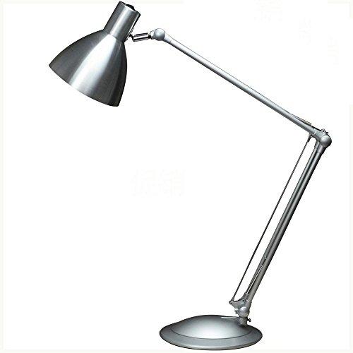 ZTYR Praktische Büro Dekoration aus Aluminium-Legierung Edelstahl klappbarer Tisch Lampe Dual Eye Protection LED Tischleuchte , is white - Home Decor Traditionellen Tisch-lampe