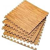Sell-Ideas Marken Holz Effekt ineinandergreifende EVA Schaumstoff, Bodenmatten Gym Garage Kinder spielen Mats jeder Stein Größe 60x 60cm 24X(60X60CM) 96 SQ FT