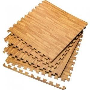 sell-ideas Marken Holz Effekt ineinandergreifende Eva Schaumstoff, Bodenmatten Gym Garage Kinder Spielen Mats jeder Stein Größe 60x 60cm