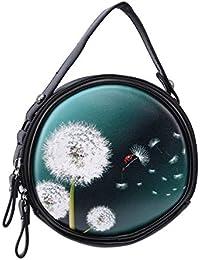 5f7e4507106fb Beafavor Vintage Ethnic Style Printing Runde Crossbody Umhängetasche Frauen  Griff Tote Handtasche