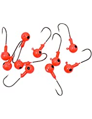 JWBOSS Jig Heads 10PCS Metal Fish Leurres Bait Single Barbed Hooks Tackle crochets Tackle 3,5 / 5/7 / 10g