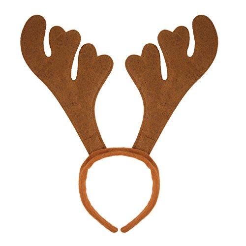 8f59f9a3c1 Christmas Headband Santa Reindeer Antlers Xmas Fancy Dress Party Adults  Kids by Henbrandt