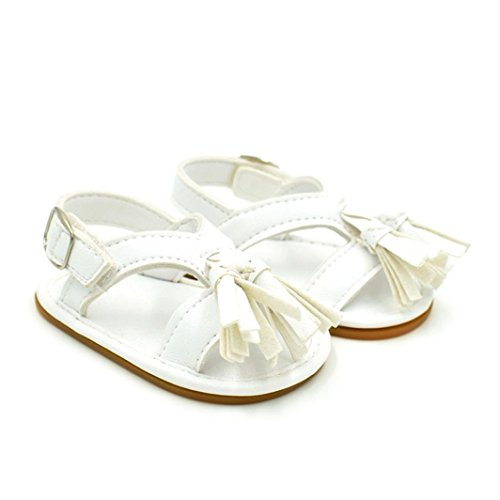 Soft Neugeborenen Weiß Baby Walking slip Bzline® Shoes Schuhe Quaste Non Sandalen wvxSqnfqY