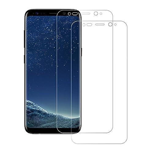 2 Pièces Samsung Galaxy S8 Plus Protection écran (Couverture Complète), POOPHUNS film protection Samsung Galaxy S8 Plus, Application Sans Bulles, Ultra Transparence, Anti traces de doigts, Protecteur écran pour Samsung Galaxy S8 Plus