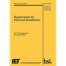 Requirements for Electrical Installations, Iet Wiring Regulations, BS 7671:2008+A3:2015 (Electrical Regulations)
