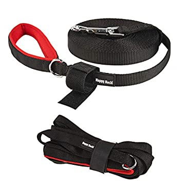 HAPPY HACHI Dog Training Lead Long Rope Cotton Nylon Webbing Recall Obedience Line Leash for Pet