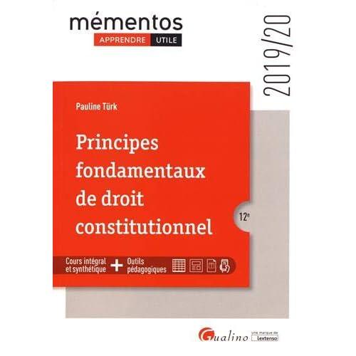 Principes fondamentaux de droit constitutionnel